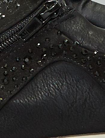 Baskets à strass Femme noir Kiabi 25,00€
