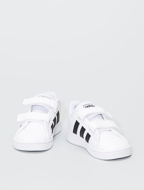 Baskets 'adidas' à scratchs                             blanc