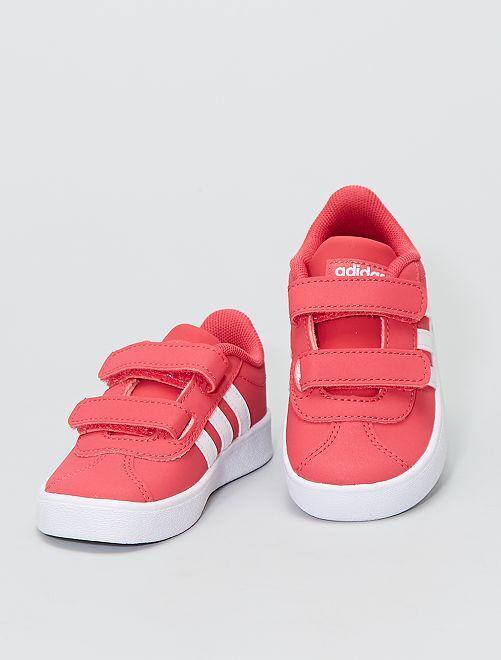 Baskets 'adidas' à scratchs                             rose