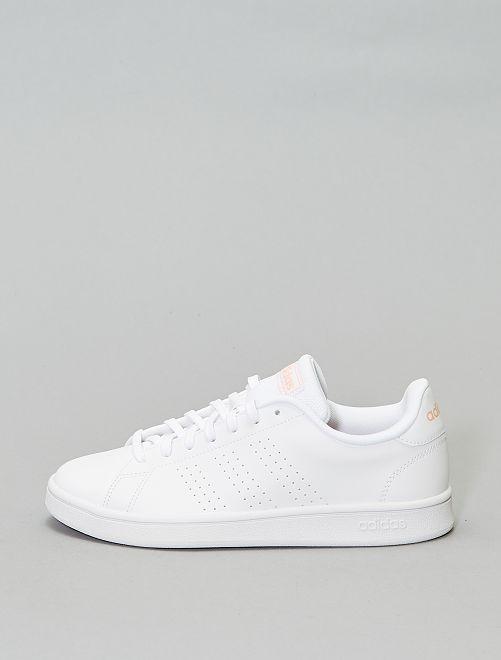Baskets 'adidas advantage base'                             blanc/rose