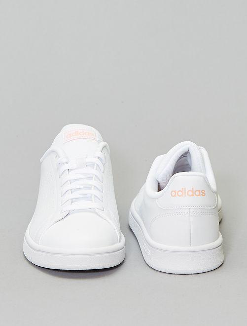 basket adidas rose et blanc