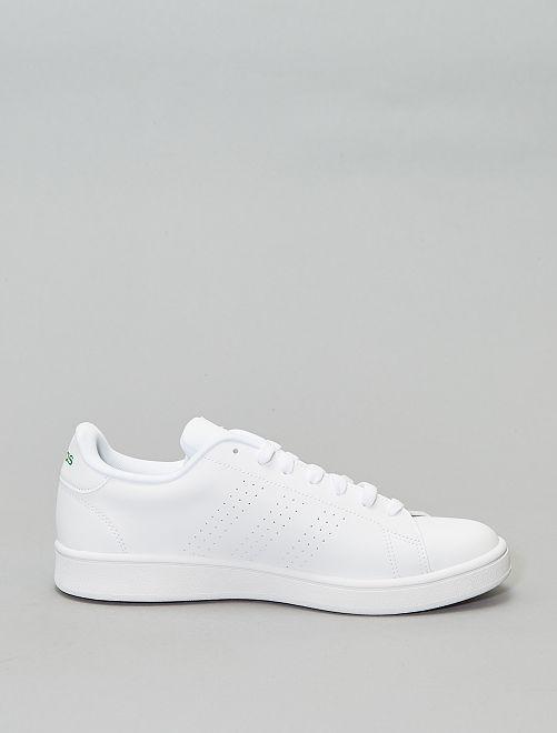 basket adidas verte et blanche