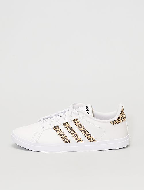 Baskets 'Adidas Courtpoint'                             blanc/léopard