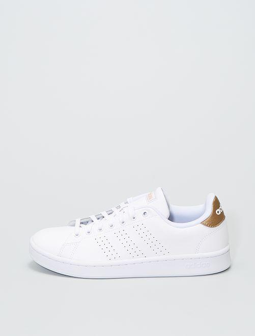 Baskets 'adidas' en simili                             BLANC