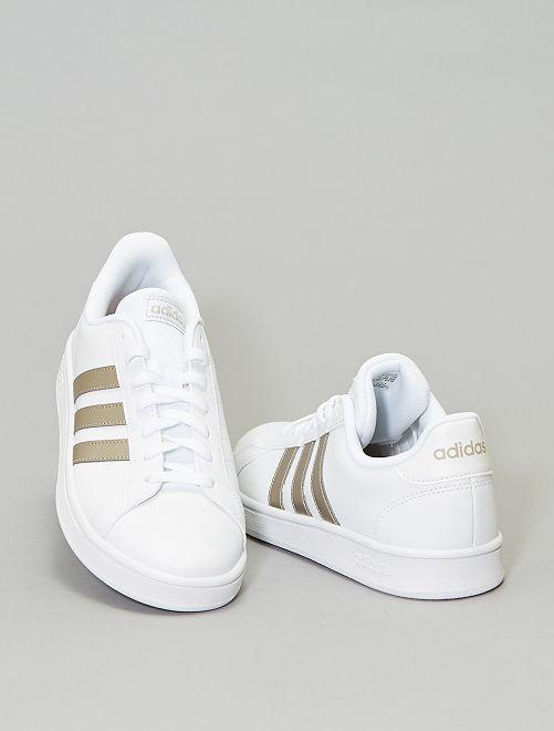 Baskets 'adidas grand court base'                             blanc