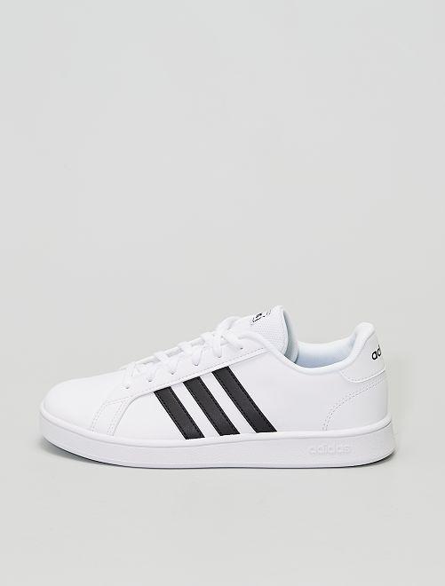 Baskets 'adidas Grand Court K'                             blanc/noir