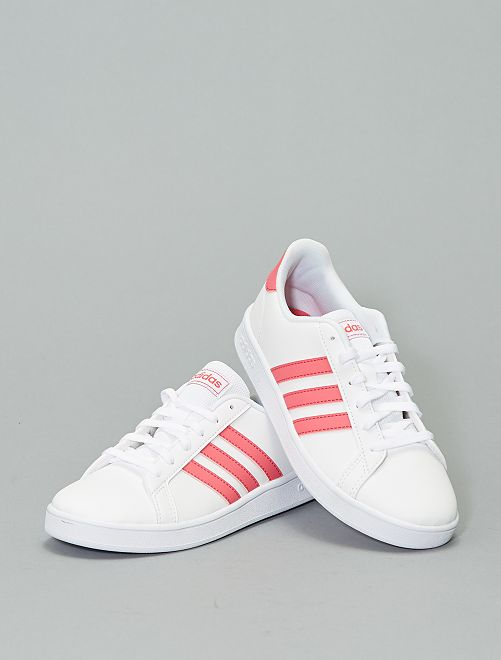Baskets 'adidas Grand Court K'                                         blanc/rose