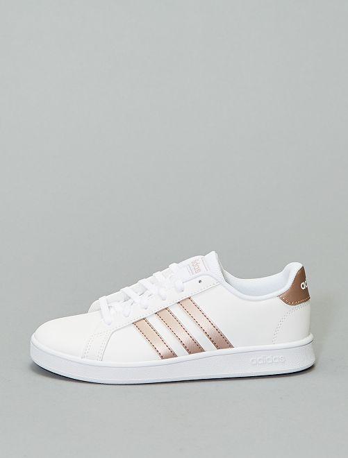 Baskets 'adidas Grand Court K'                                         blanc/rose métal