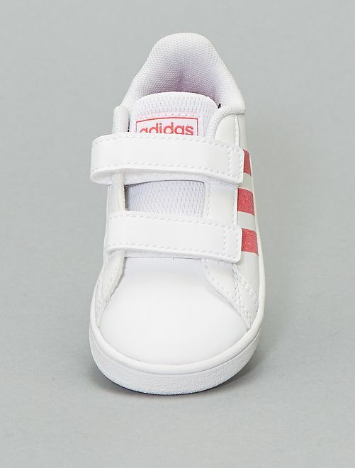 Baskets 'Adidas' pailletées                             blanc