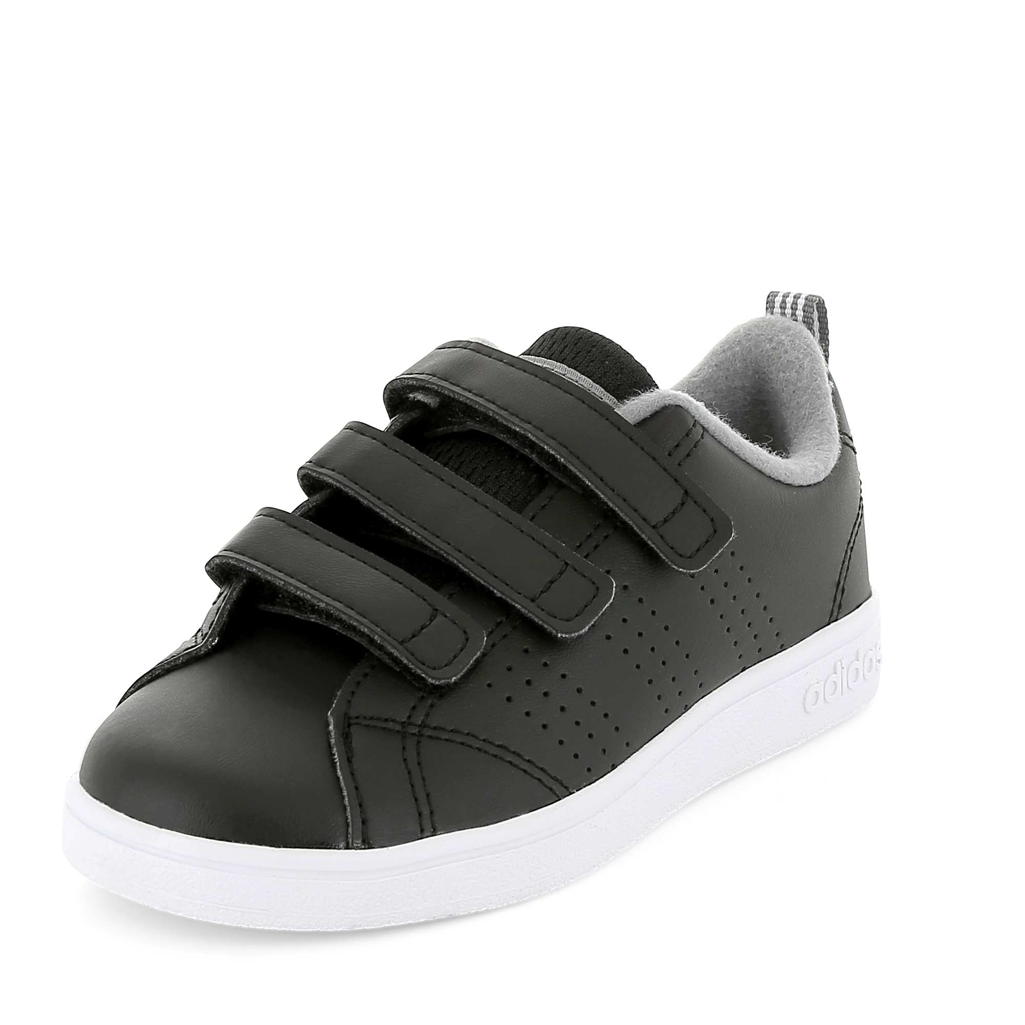 buy online 80055 f816f Baskets Adidas VS Advantage Clean à scratchs noir Garçon. Loading zoom