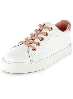 Chaussures, chaussons - Baskets basses à lacets