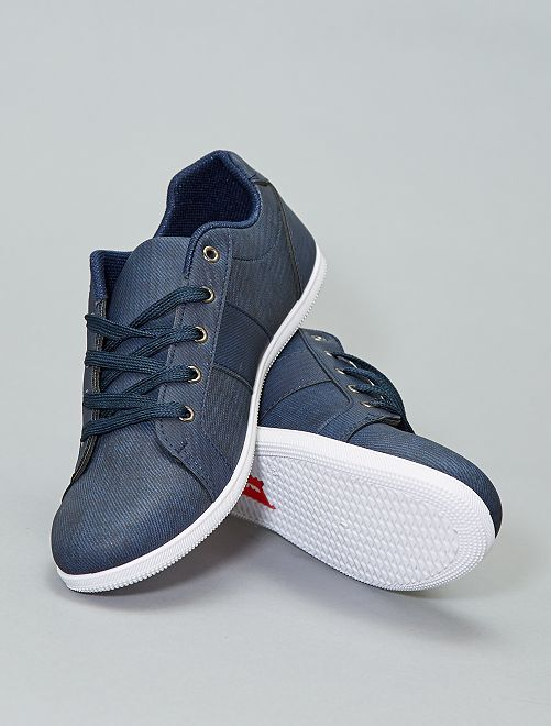 Baskets basses à lacets                             bleu navy Homme