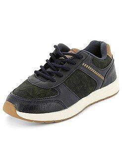 Chaussures, chaussons - Baskets basses bi-matière - Kiabi
