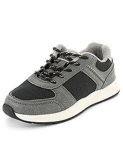 Chaussures garçon - Baskets basses bi-matière - Kiabi