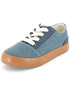 Chaussures, chaussons - Baskets basses effet denim - Kiabi