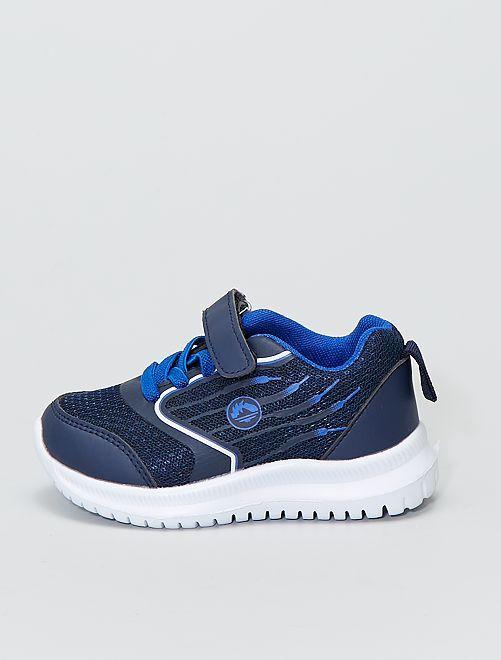 Baskets basses en mesh                             bleu navy