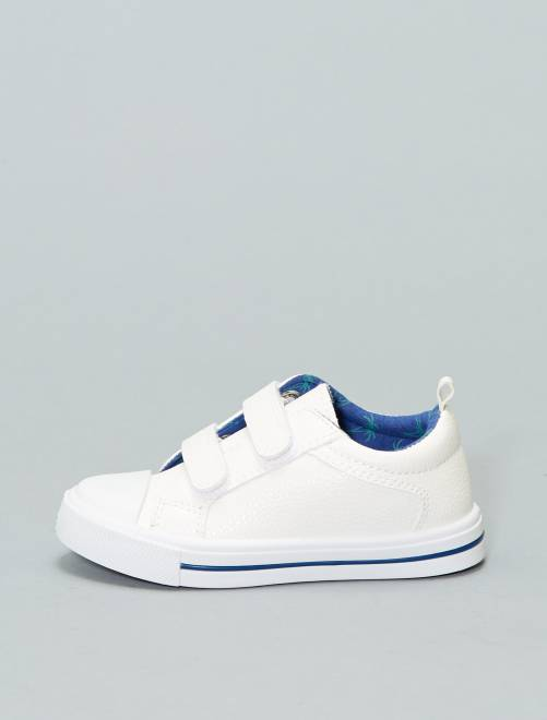Baskets basses en simili                             blanc Chaussures