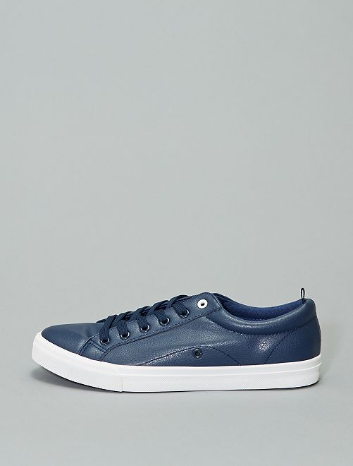 Baskets basses en simili                                                     bleu navy