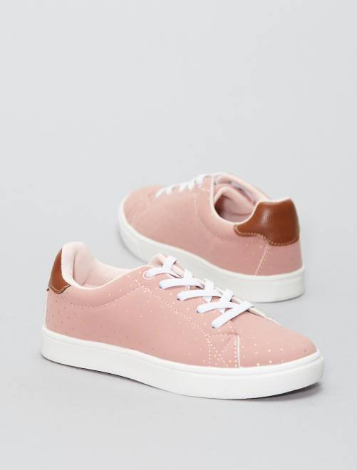 Baskets basses en simili                     rose Fille