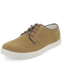 Chaussures homme - Baskets basses en suédine - Kiabi