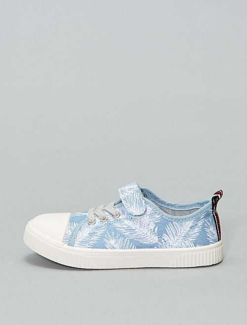 Baskets basses en toile                                                     bleu feuilles Chaussures
