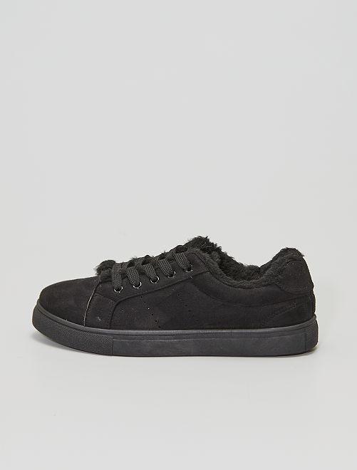 Baskets basses fourrées                                         noir