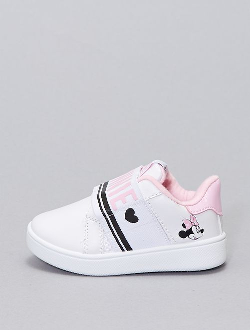 Baskets basses 'Minnie Mouse' 'Disney' sans lacets                             blanc