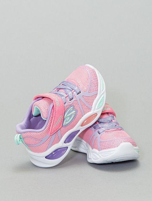 Baskets basses 'Skechers' lumineuses                             rose