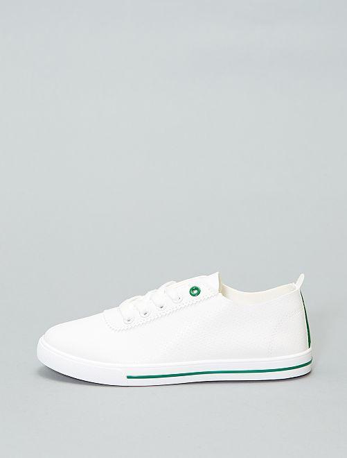 Baskets basses souples                     blanc/vert Femme