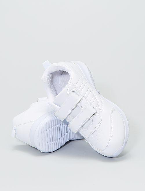 Baskets basses unies                             blanc