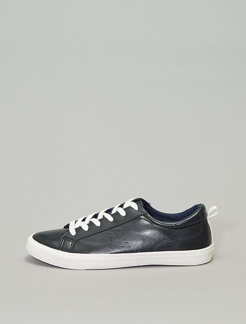 Baskets basses unies                                                     bleu navy