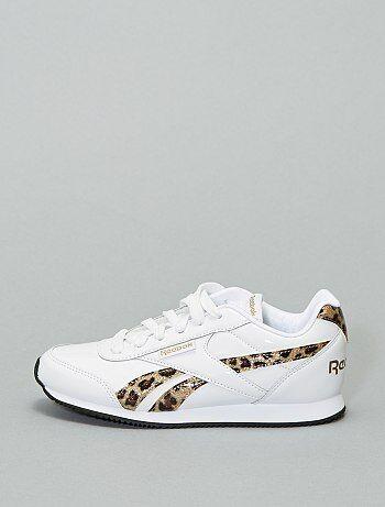 Baskets basses vernis détails léopard