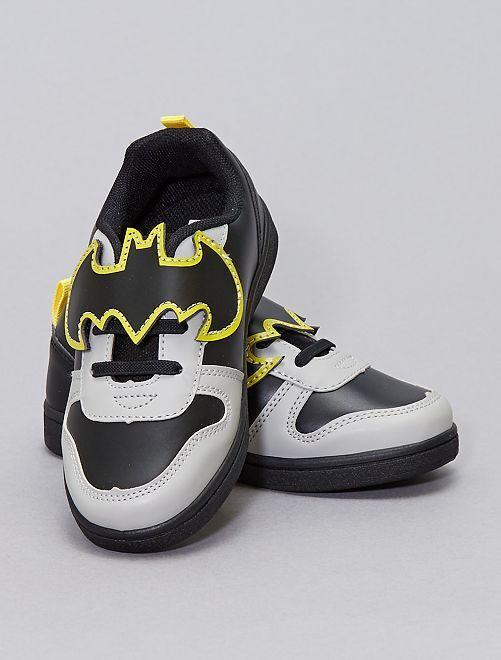 Baskets bicolores 'Batman'                             noir/gris