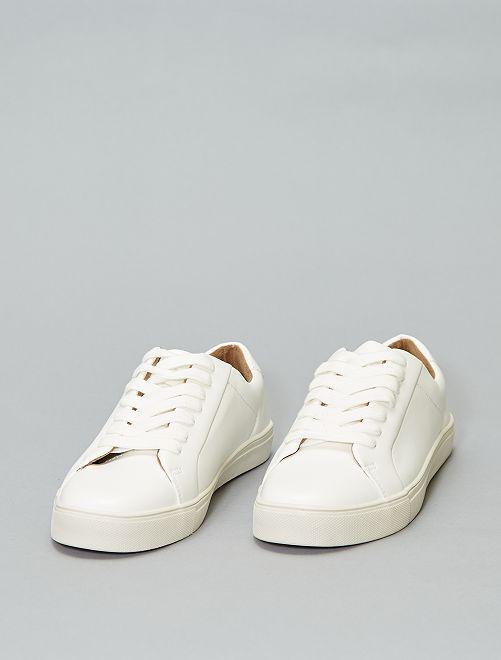 Blanches Chaussures À Baskets Kiabi Blanc 20 Lacets 00€ SUzMVqp