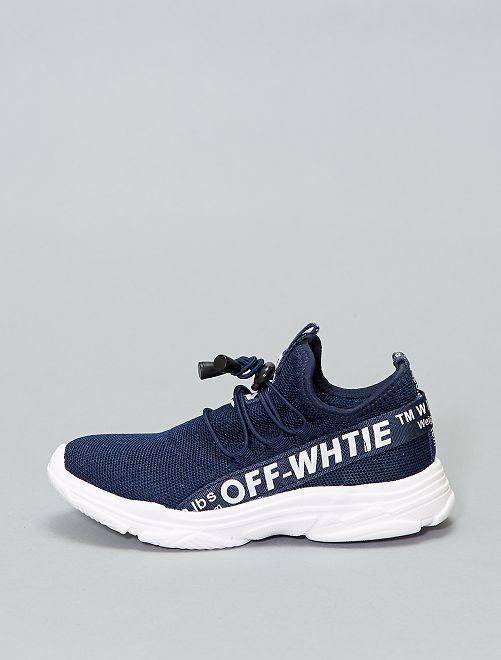 Baskets chaussettes montantes                             bleu navy