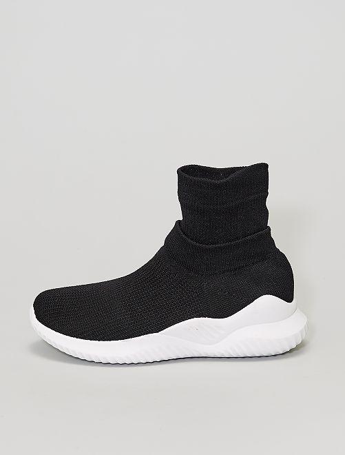 Baskets chaussettes                             noir