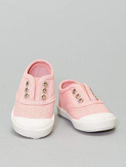 Baskets effet délavé                                         rose
