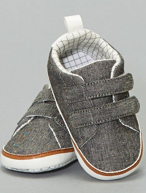 Baskets en chambray                             noir chambray