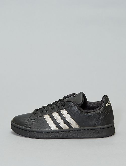 Baskets en cuir 'adidas Grand Court'                             noir