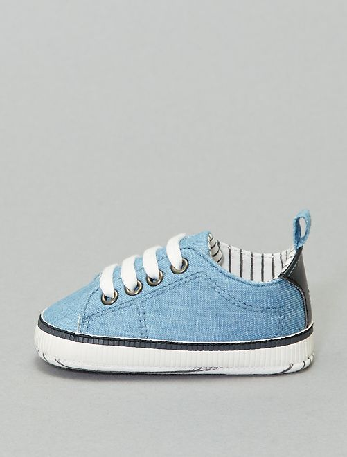 Baskets en denim                             bleu denim