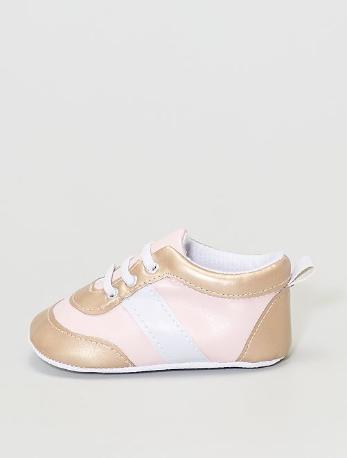 baskets en simili                                                     rose/or