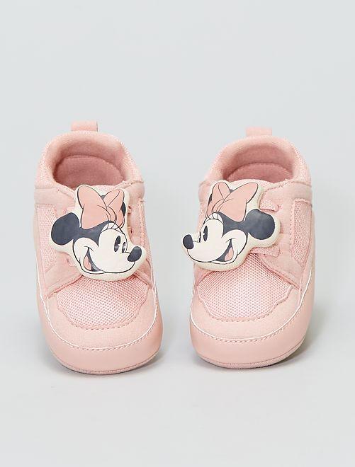 Baskets en suédine et mesh 'Minnie' 'Disney'                             BLANC