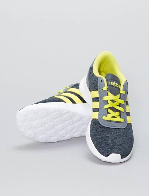 Baskets en textile 'Adidas Lite Racer'                             gris/jaune Garçon adolescent