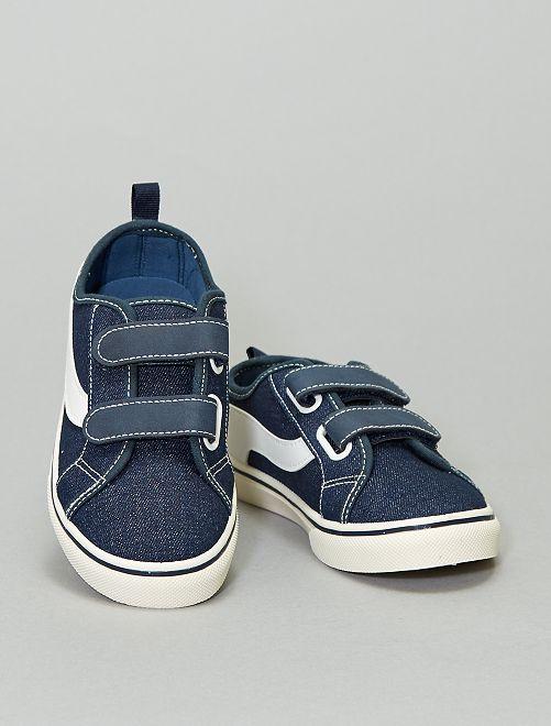 Baskets en toile                                                     bleu navy
