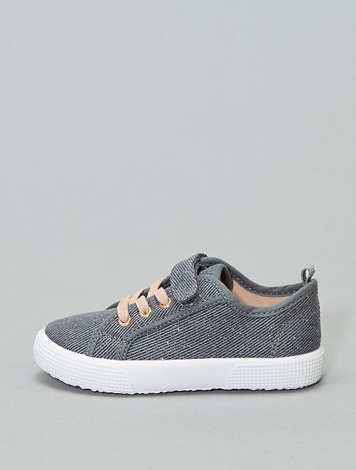 Baskets en toile                                         denim gris