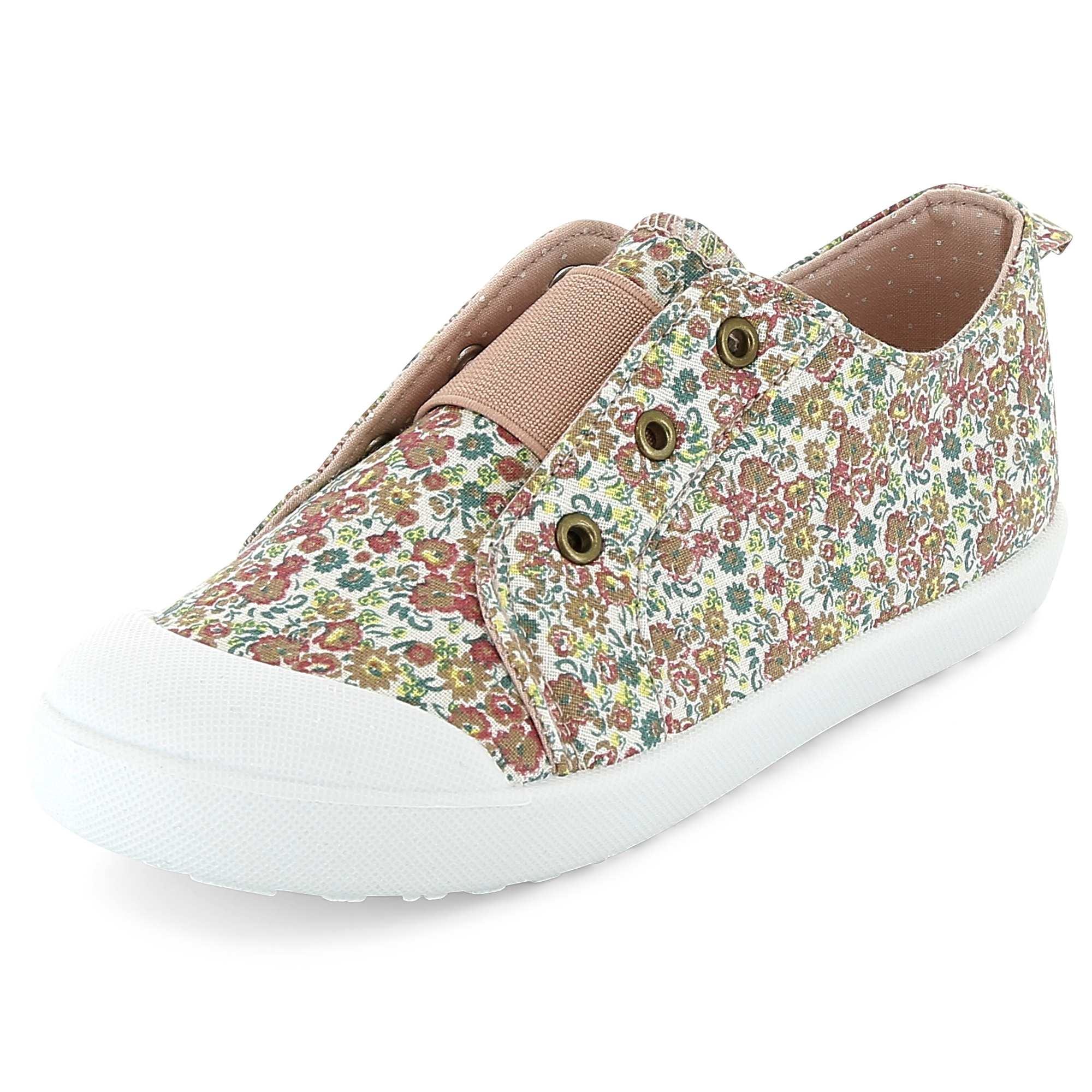 Couleur : fleurie, rose, ,, - Taille : 35, 30, 33,31,32Les chaussures de l'été par excellence ! - Baskets en toile - Bride de maintien