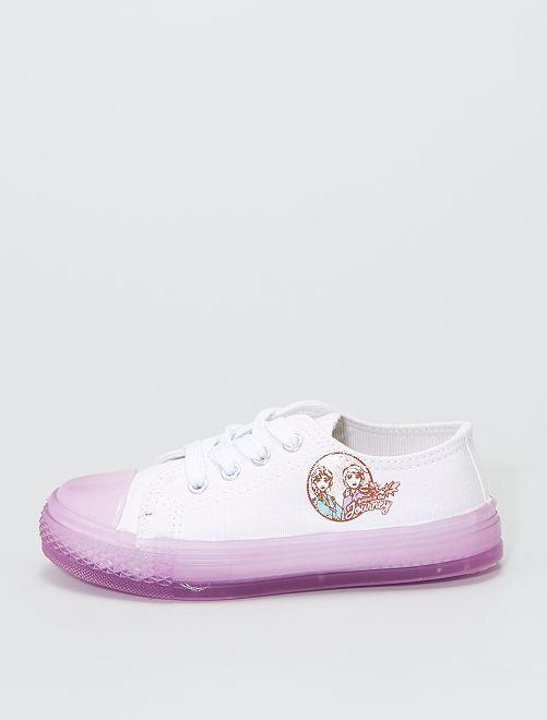 Baskets en toile la 'Reine des Neiges II'                             blanc/violet