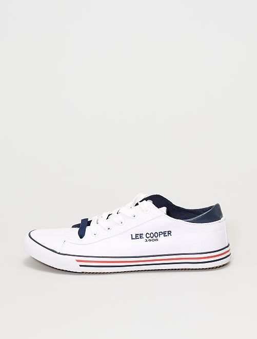 Baskets en toile 'Lee Cooper'                             blanc
