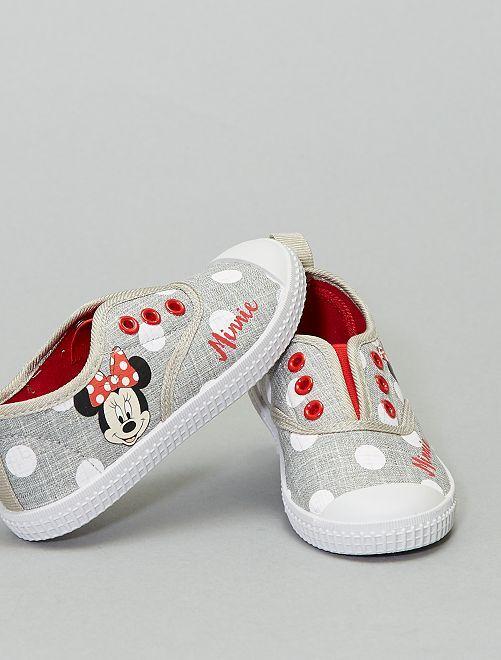Baskets en toile 'Minnie Mouse' de 'Disney'                             gris