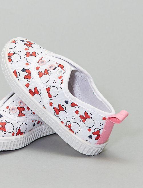 Baskets en toile 'Minnie Mouse' 'Disney'                             blanc